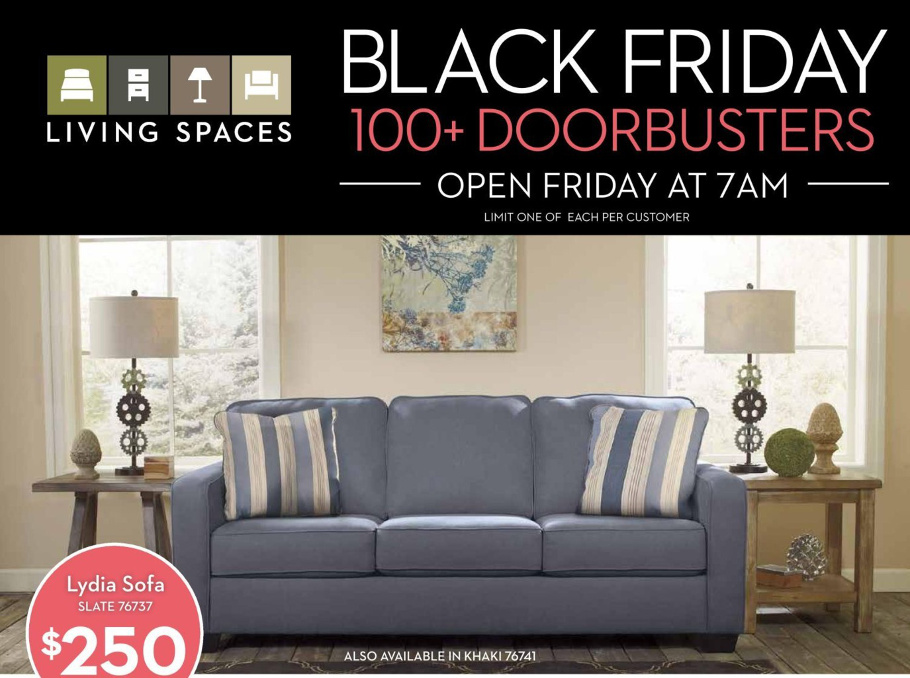 Living Spaces 2015 Black Friday Ad Page 1