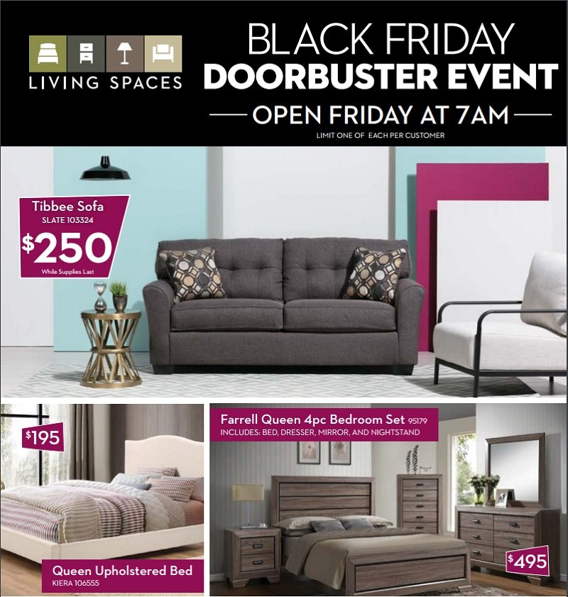Living Spaces 2016 Black Friday Ad Page 1