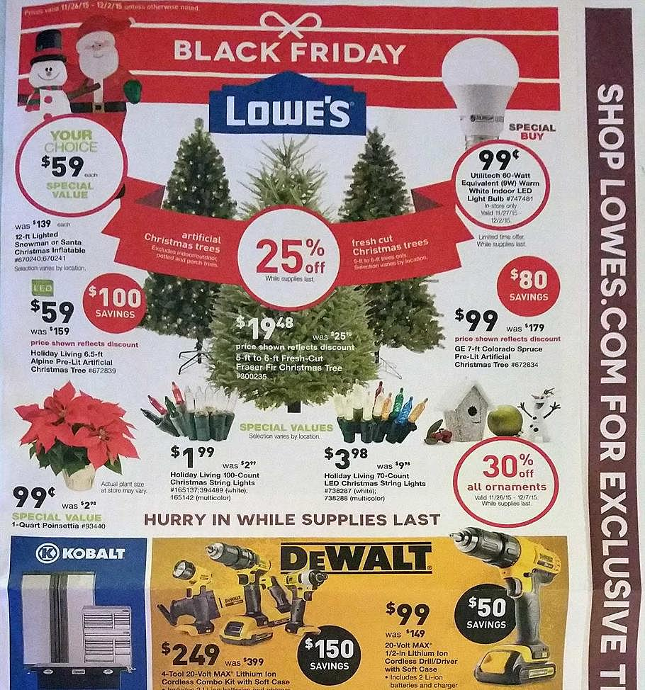 Lowe's 2015 Black Friday Ad Page 1