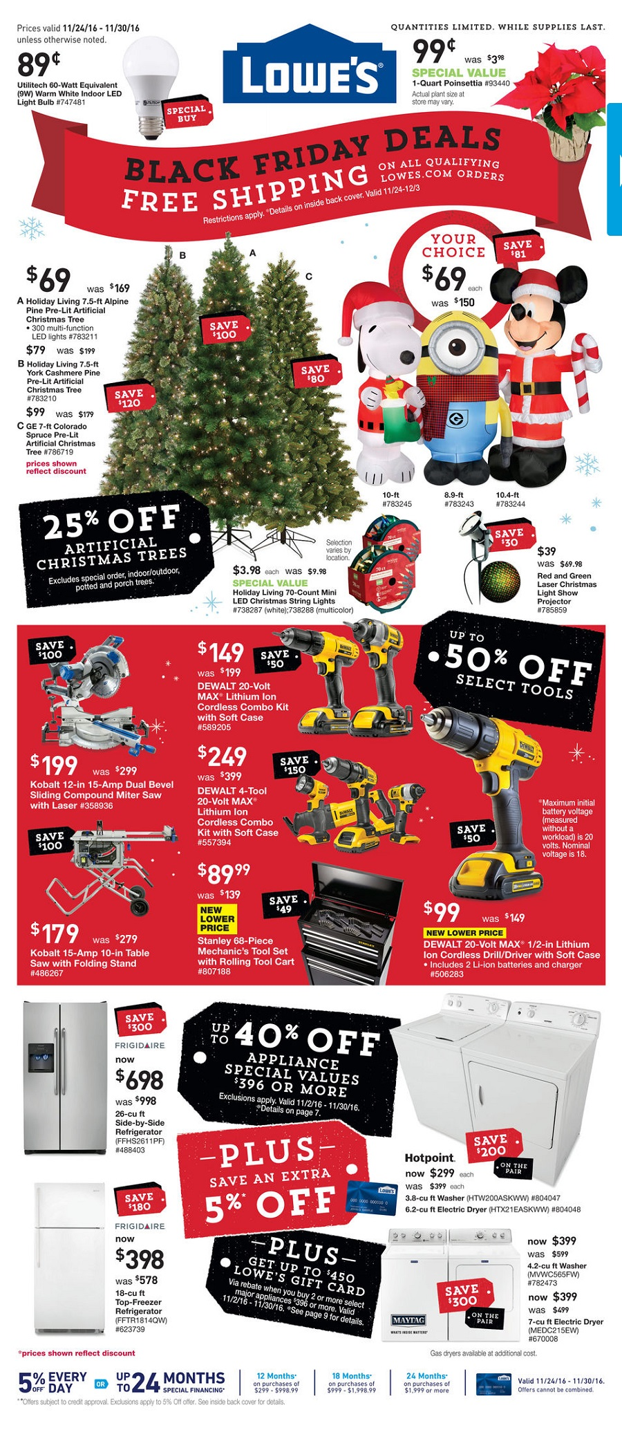 Lowe's 2016 Black Friday Ad Page 1