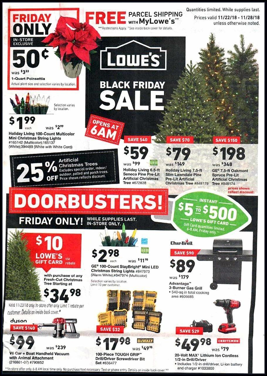 Lowe's 2018 Black Friday Ad Page 1