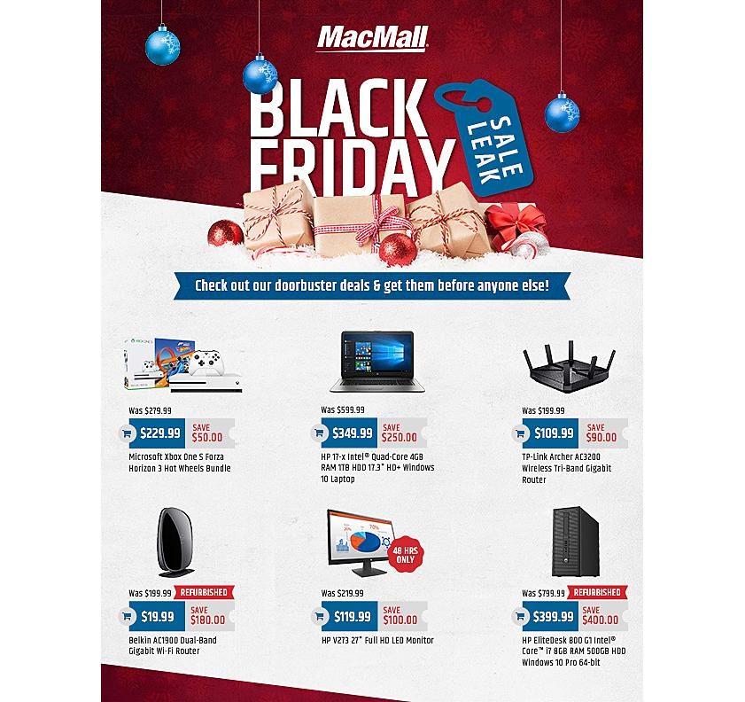 MacMall 2017 Black Friday Ad Page 1
