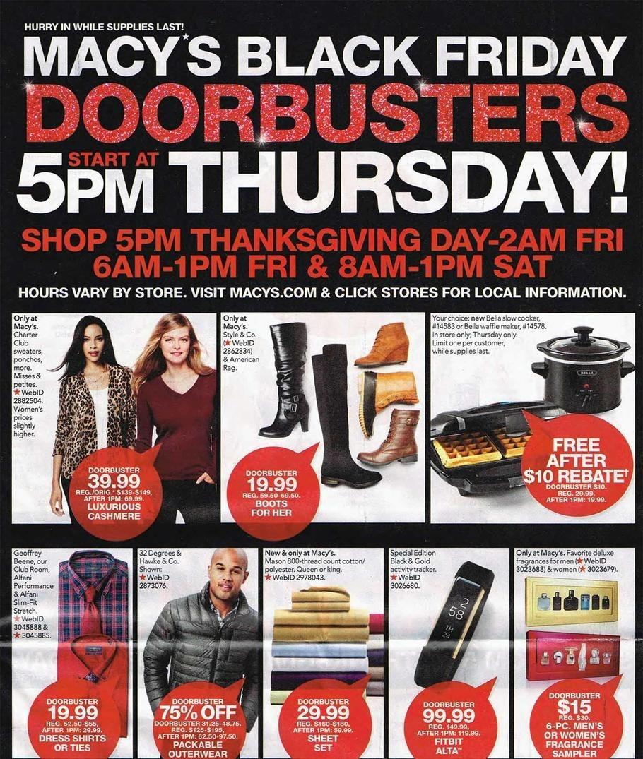 Macy's 2016 Black Friday Ad Page 1