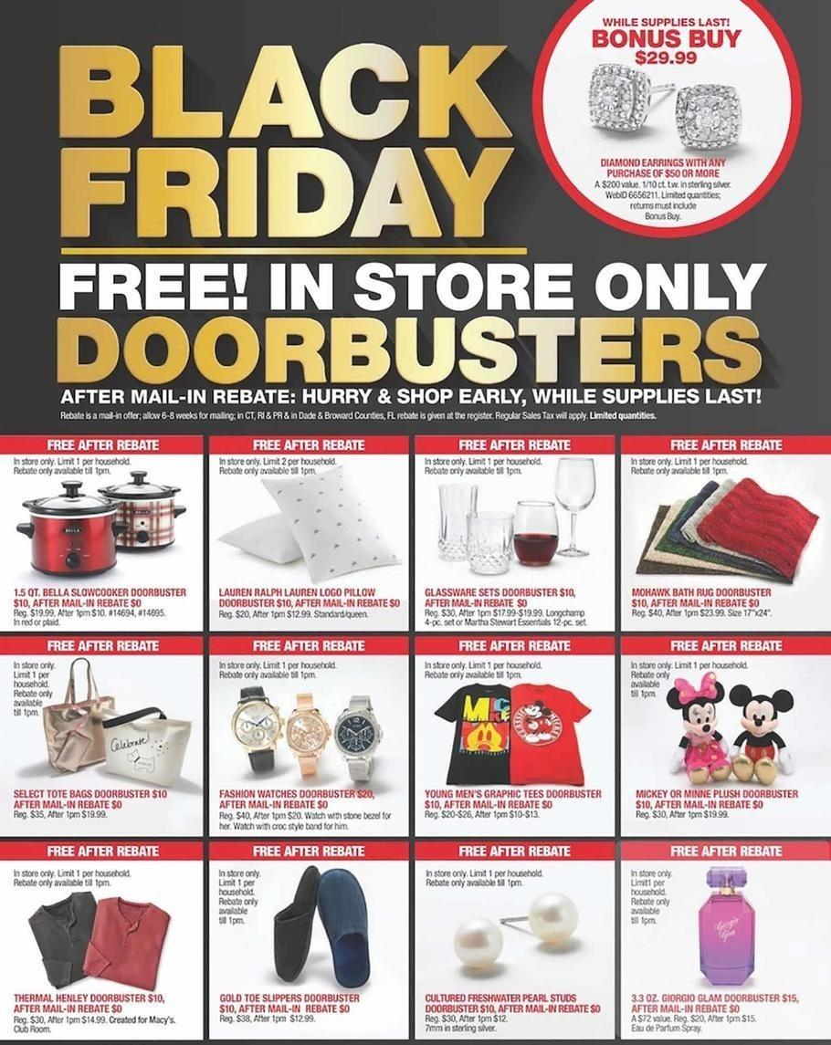 Macy's 2018 Black Friday Ad Page 1