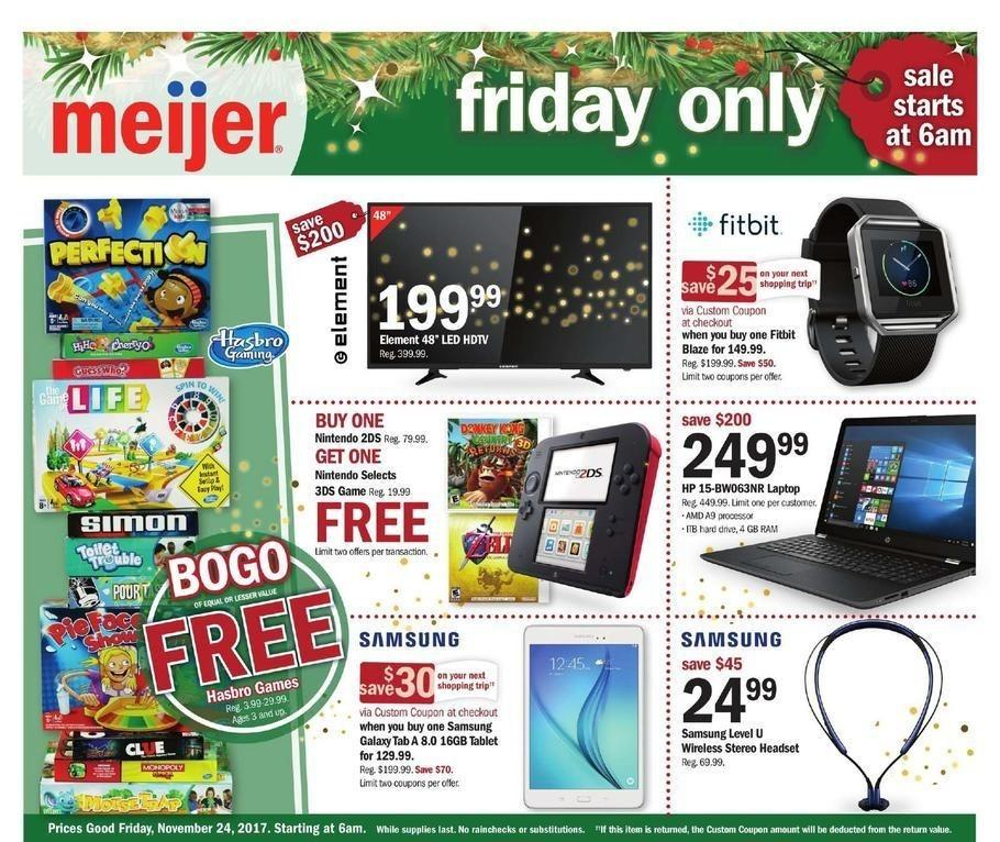 Meijer 2017 Black Friday Ad Page 1