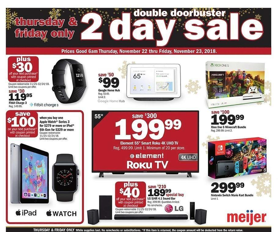Meijer 2018 Black Friday Ad Page 1