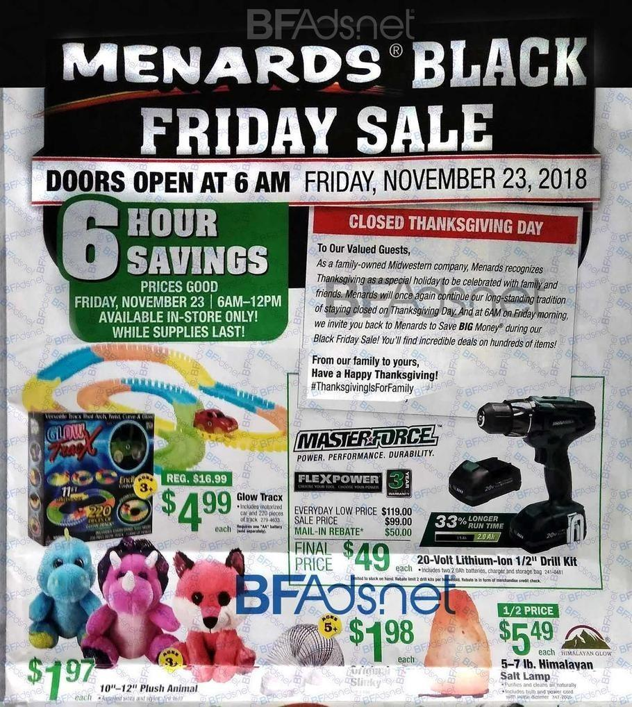 Menards 2018 Black Friday Ad Page 1