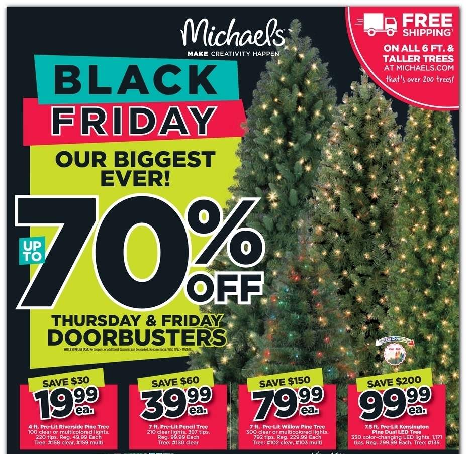 Michael's 2018 Black Friday Ad Page 1