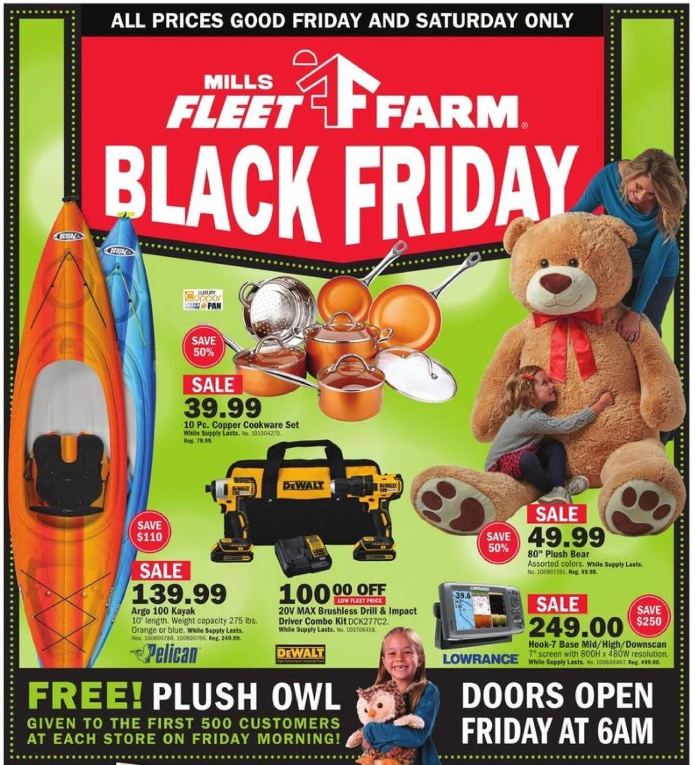 Mills Fleet Farm 2017 Black Friday Ad Page 1