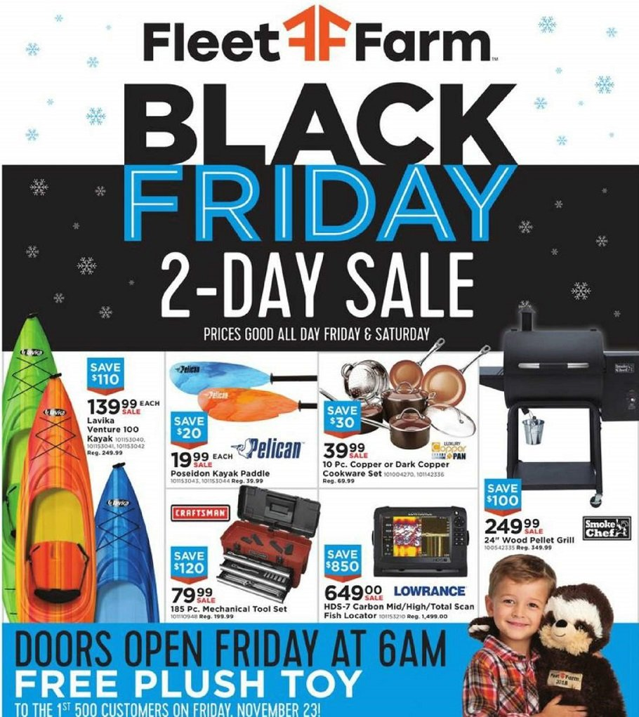 Mills Fleet Farm 2018 Black Friday Ad Page 1
