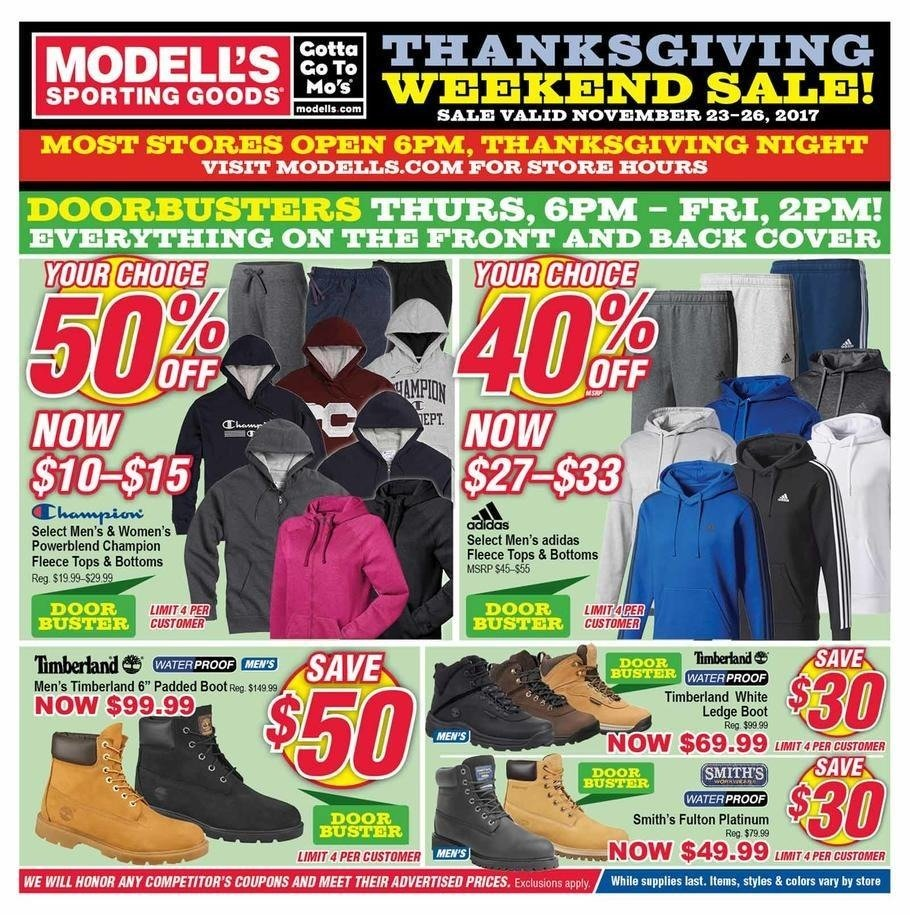 Modells 2017 Black Friday Ad Page 1