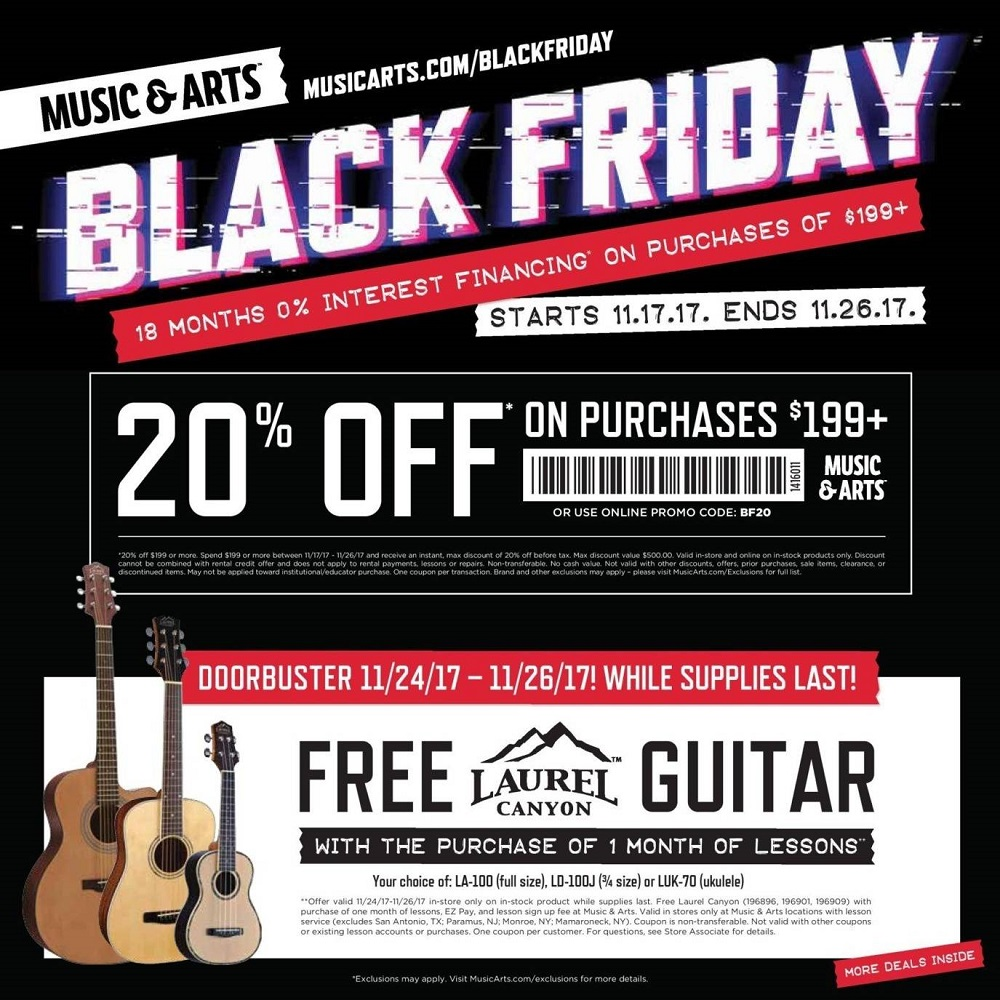 Music & Arts 2017 Black Friday Ad Page 1