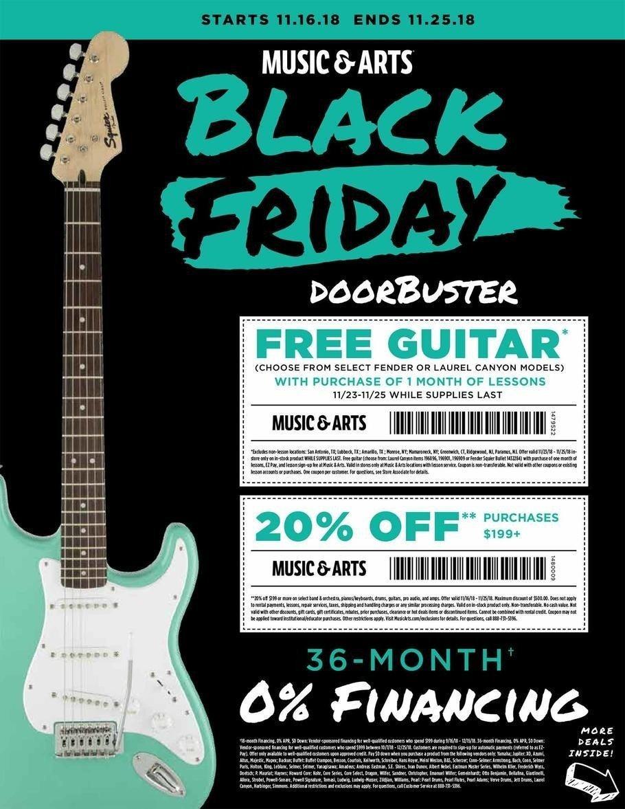 Music & Arts 2018 Black Friday Ad Page 1