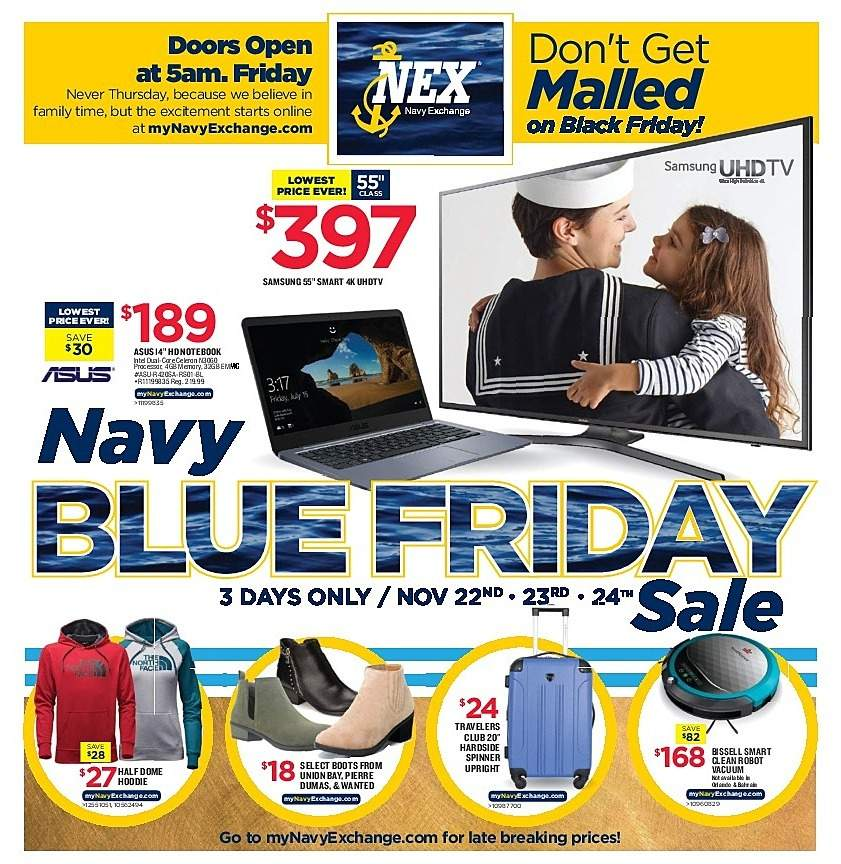 Navy Exchange 2018 Black Friday Ad Page 1