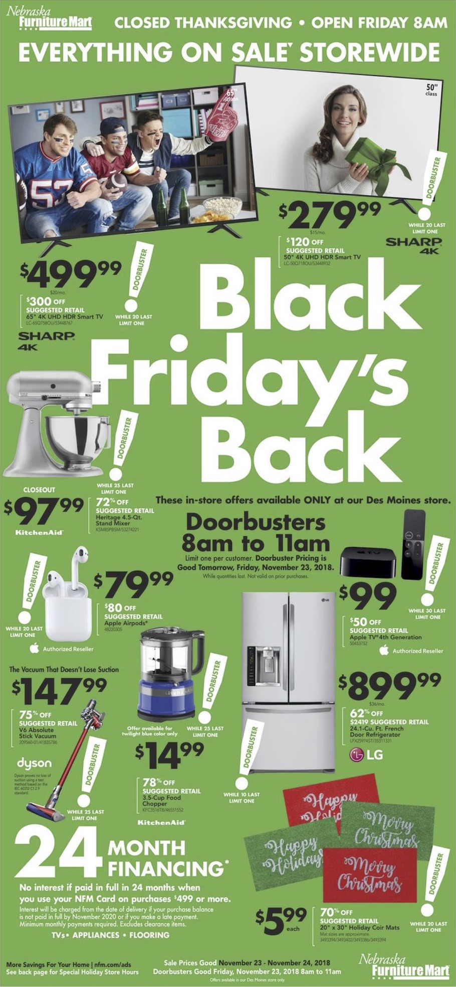 Nebraska Furniture Mart 2018 Black Friday Ad