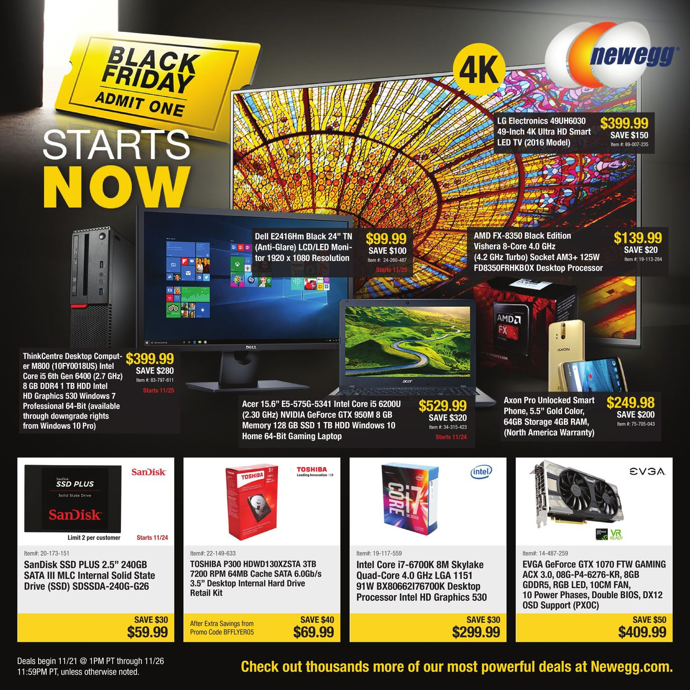 Newegg 2016 Black Friday Ad Page 1