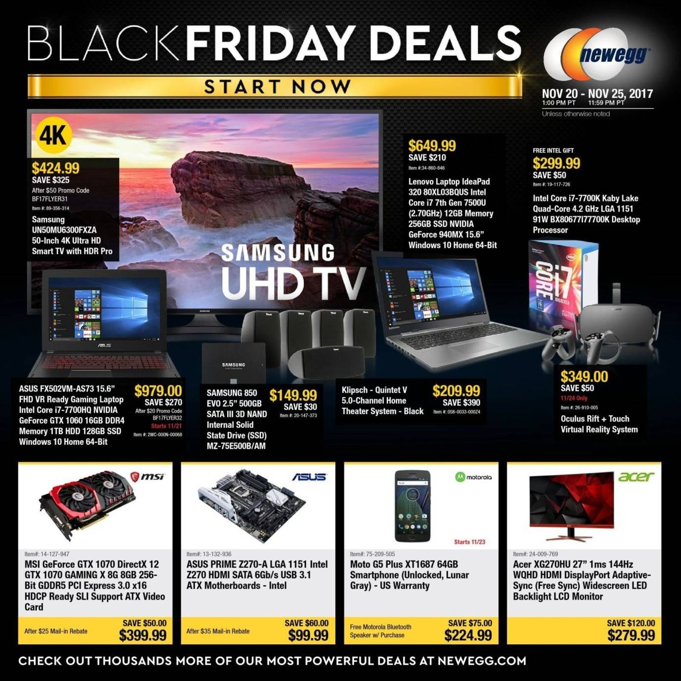 Newegg 2017 Black Friday Ad Page 1