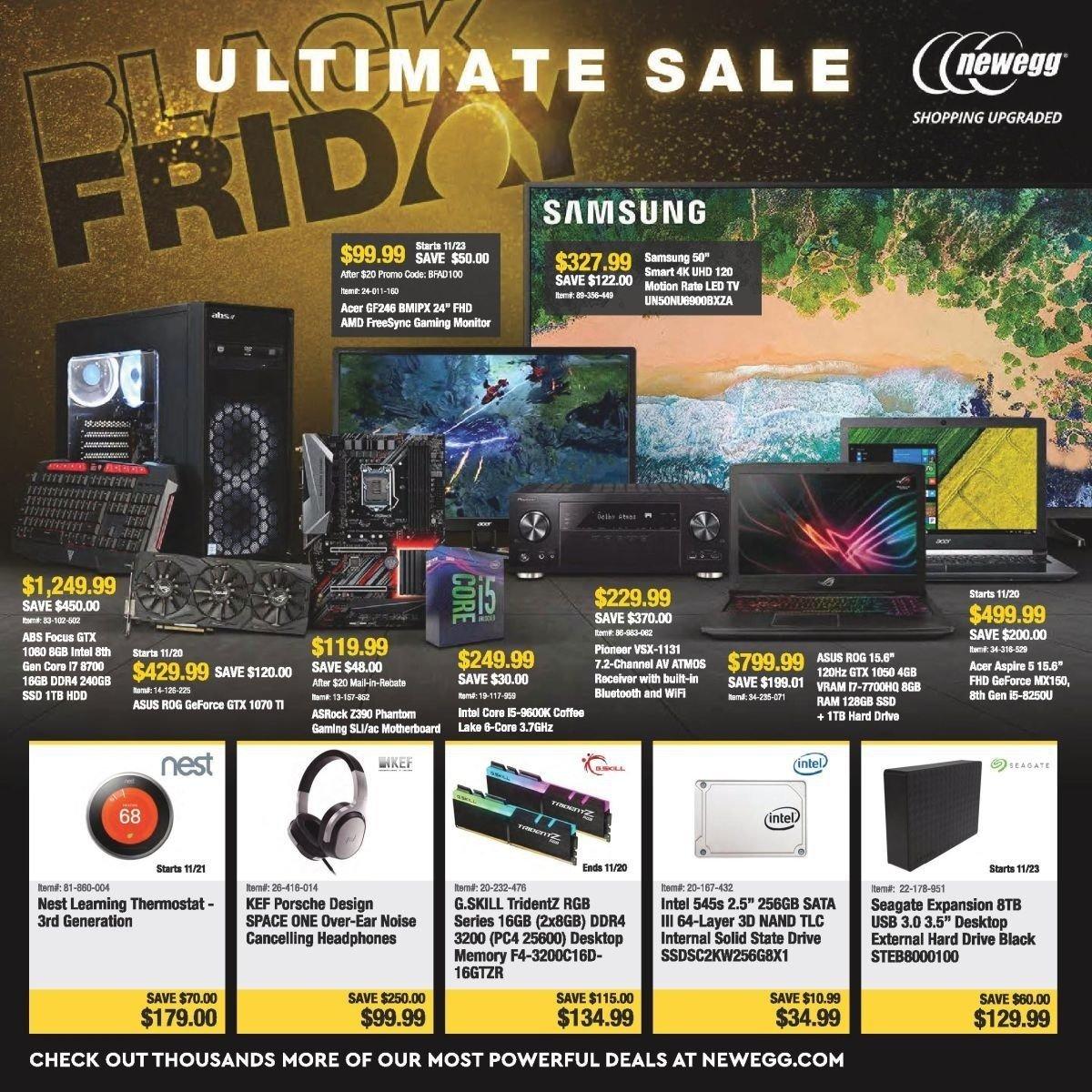Newegg 2018 Black Friday Ad Page 1