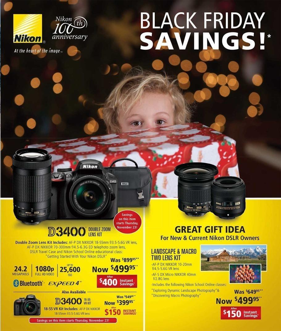 Nikon Store 2017 Black Friday Ad Page 1