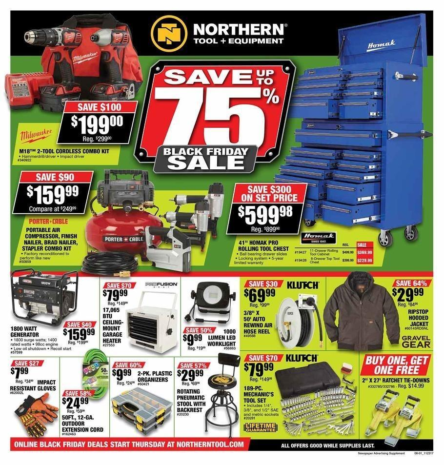 Northern Tool and Equipment 2017 Black Friday Ad Page 1