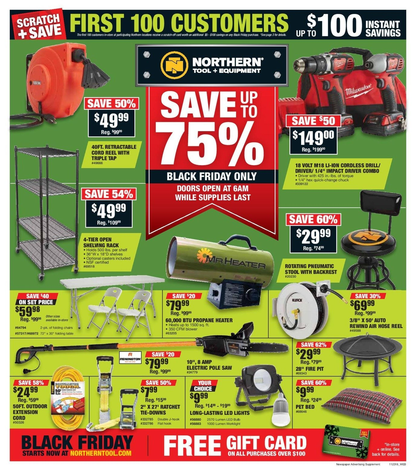 Northern Tool and Equipment 2018 Black Friday Ad Page 1