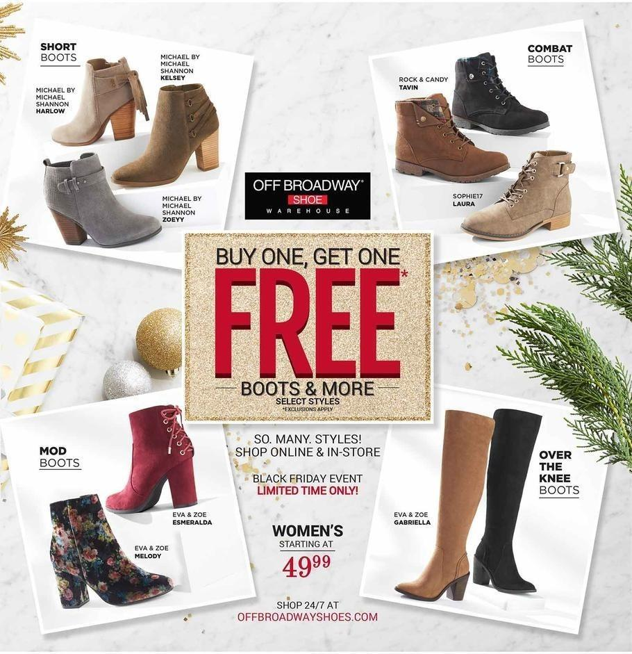 Off Broadway Shoes 2017 Black Friday Ad Page 1