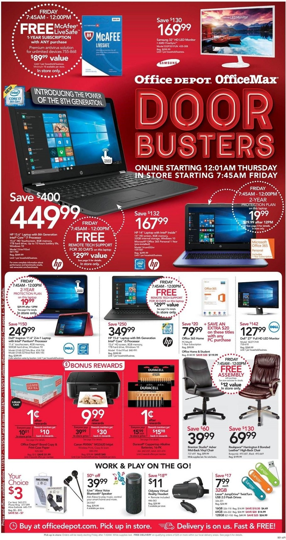 Office Depot 2017 Black Friday Ad Page 1