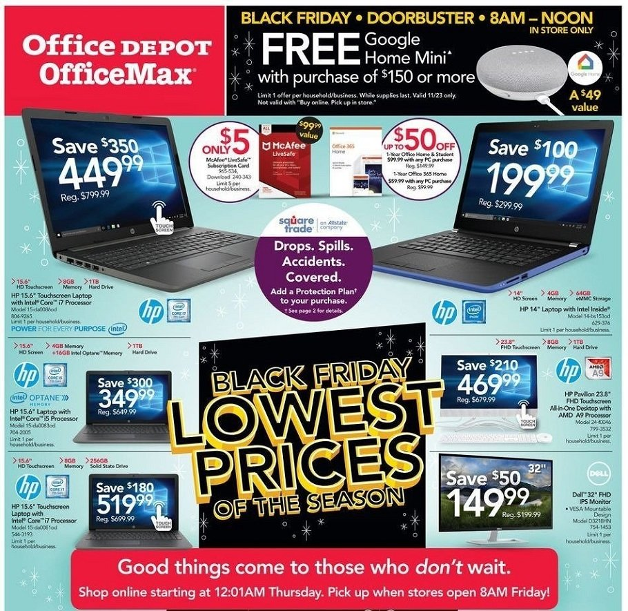 Office Depot 2018 Black Friday Ad Page 1