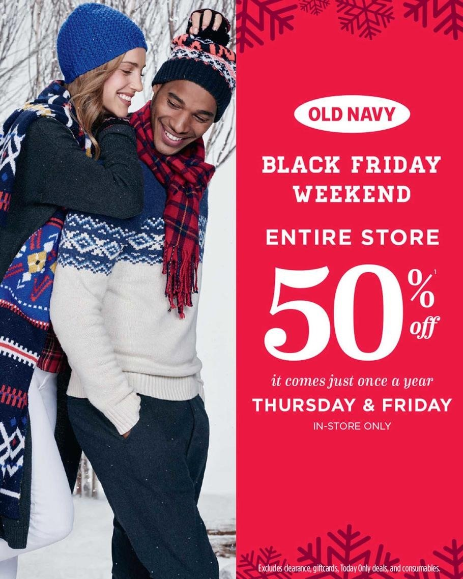 Old Navy 2015 Black Friday Ad Page 1