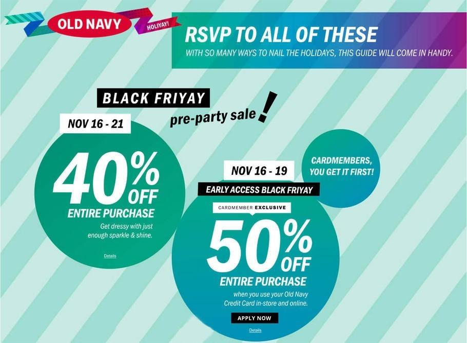Old Navy 2017 Black Friday Ad Page 1