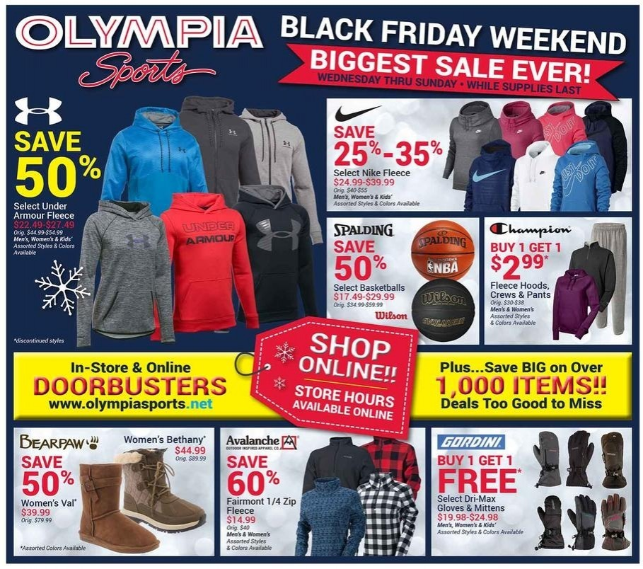 Olympia Sports 2017 Black Friday Ad Page 1