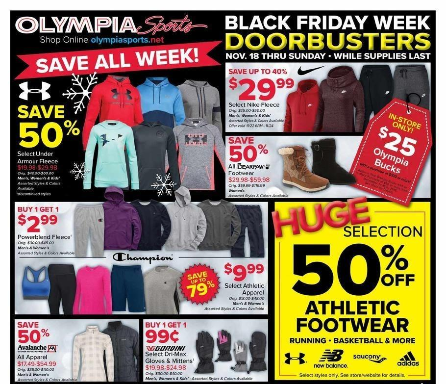 Olympia Sports 2018 Black Friday Ad Page 1
