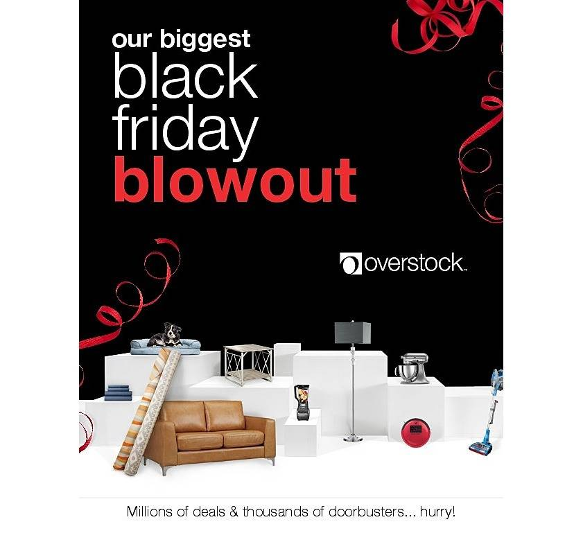 Overstock 2018 Black Friday Ad Page 1