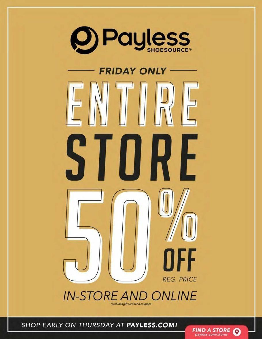 Payless ShoeSource 2017 Black Friday Ad Page 1
