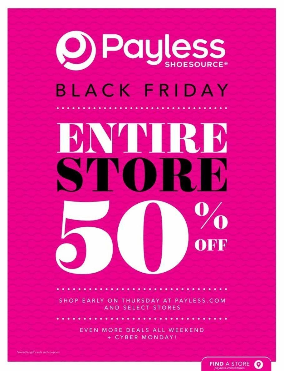 Payless ShoeSource 2018 Black Friday Ad Page 1