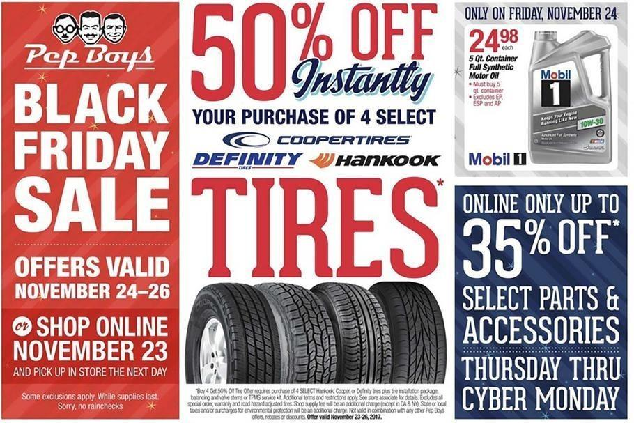 Pep Boys 2017 Black Friday Ad Page 1