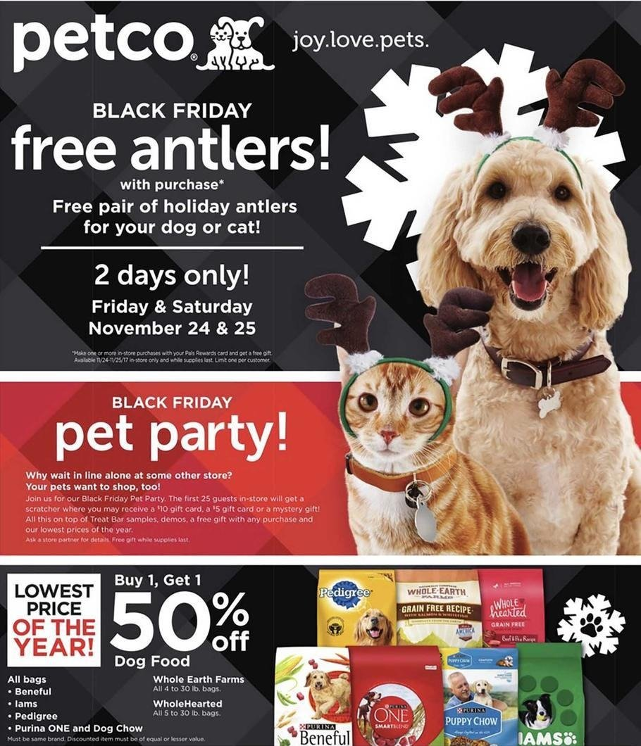 Petco 2017 Black Friday Ad Page 1