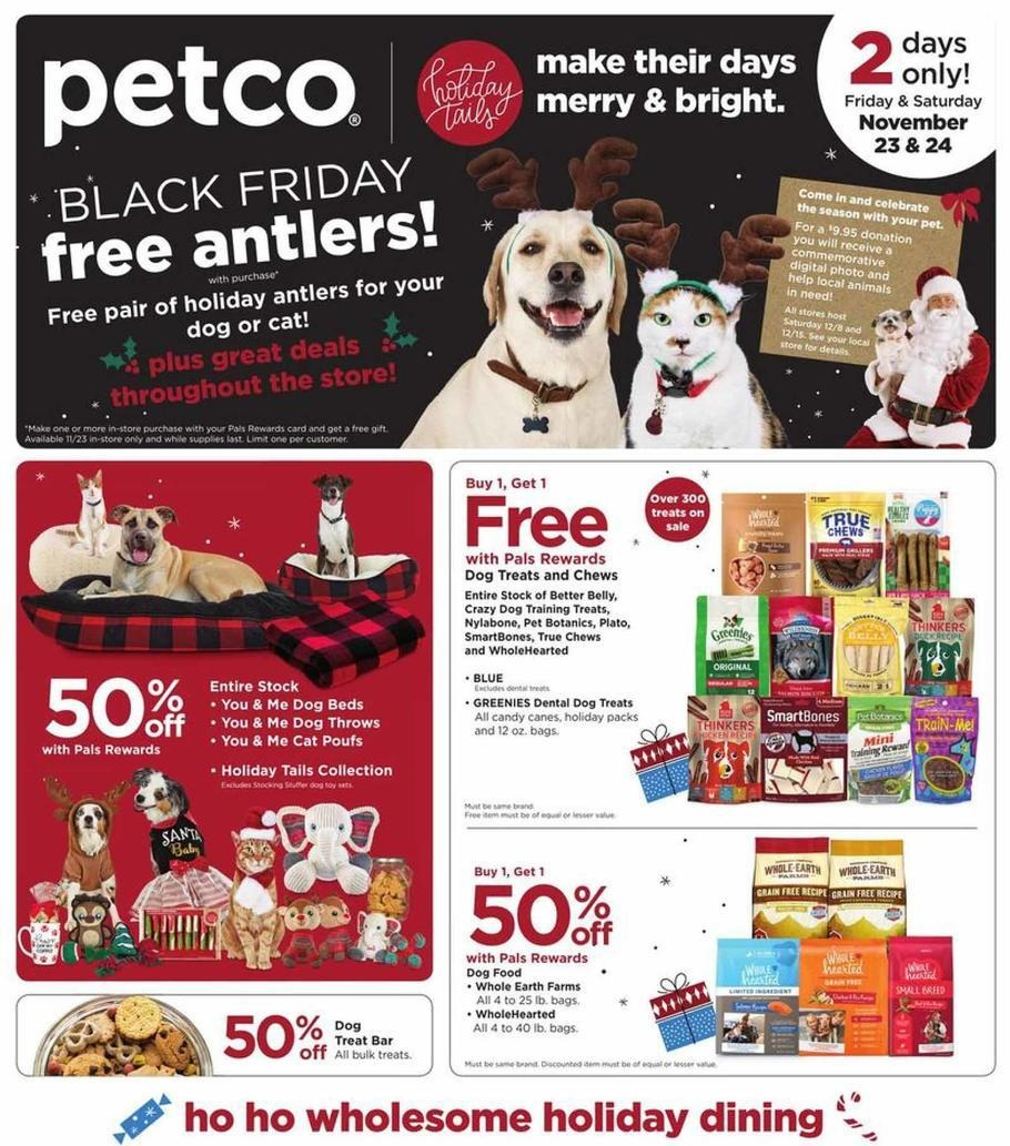 Petco 2018 Black Friday Ad Page 1