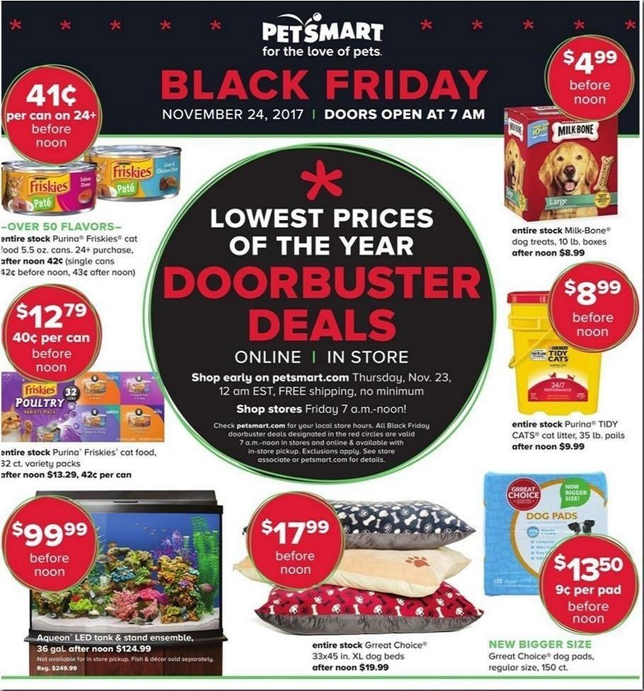Petsmart 2017 Black Friday Ad Page 1