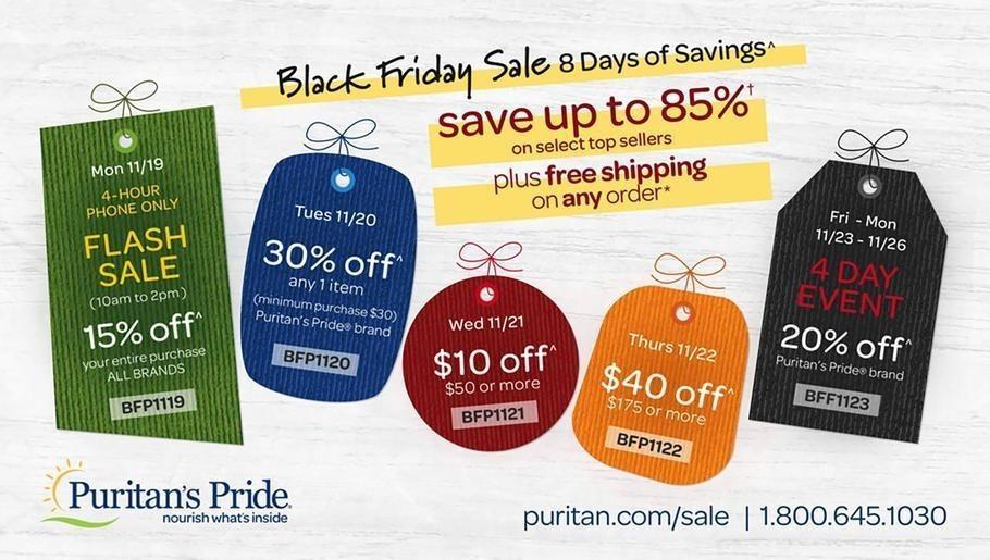Puritan's Pride 2018 Black Friday Ad Page 1