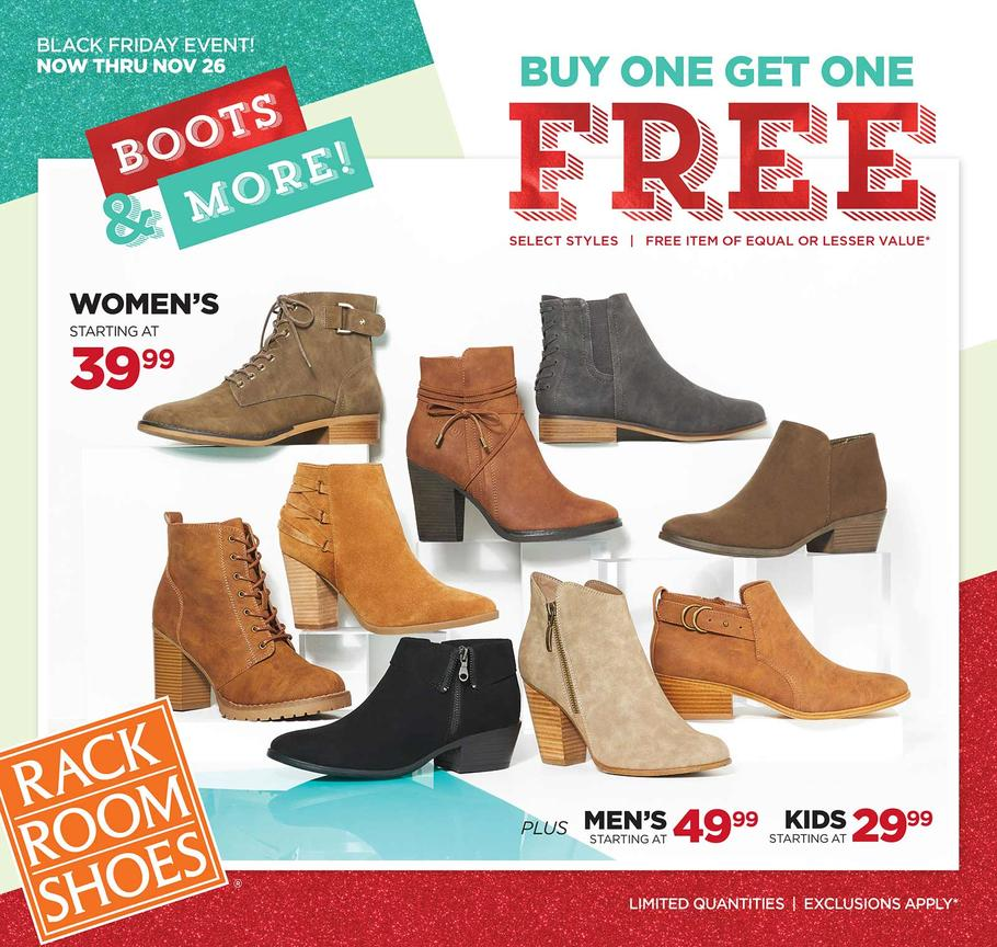 Rack Room Shoes 2017 Black Friday Ad Page 1
