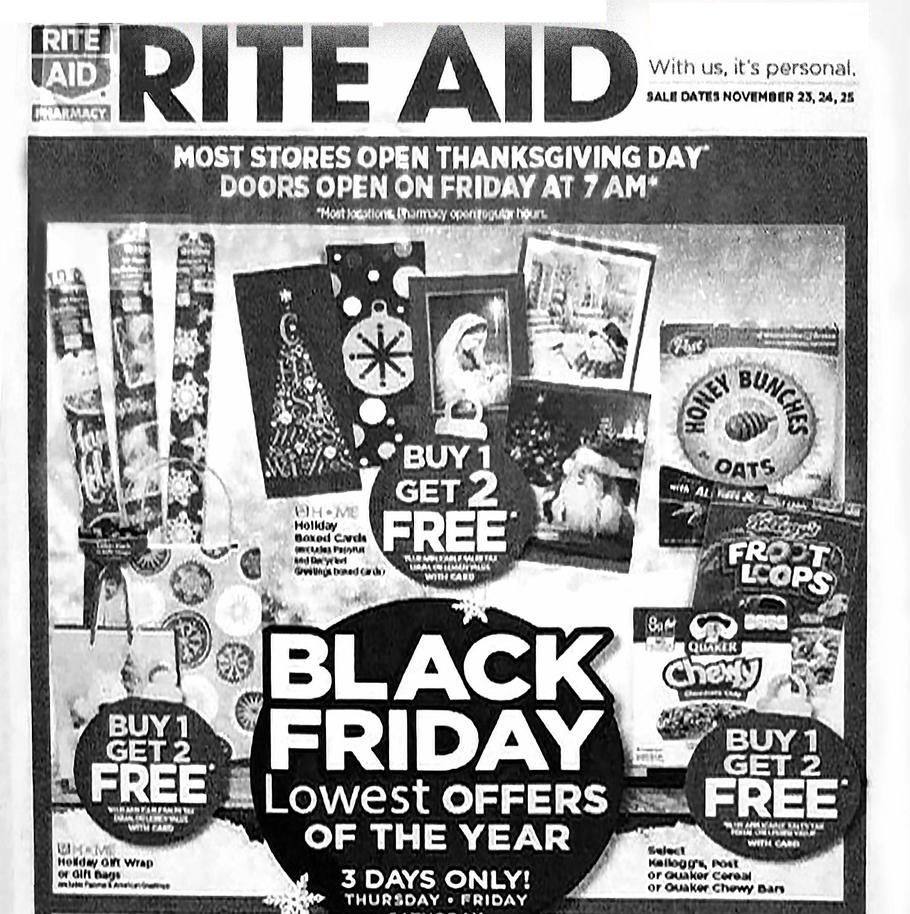 Rite Aid 2017 Black Friday Ad Page 1