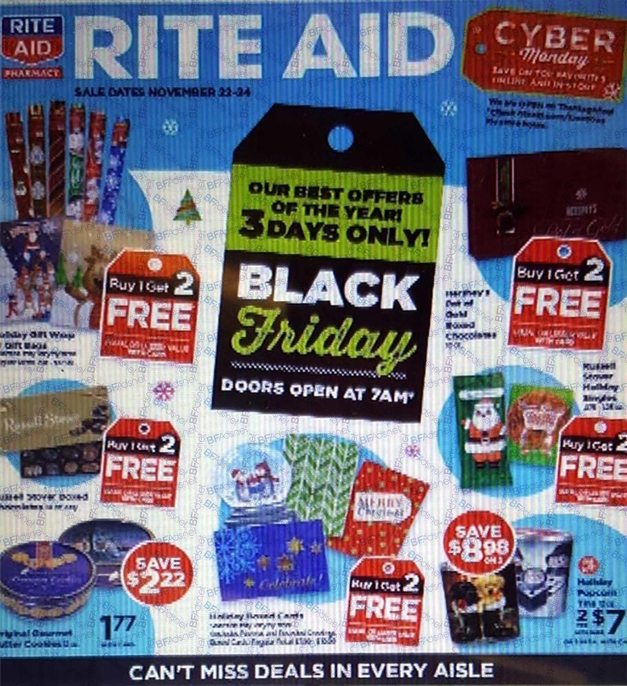 Rite Aid 2018 Black Friday Ad Page 1