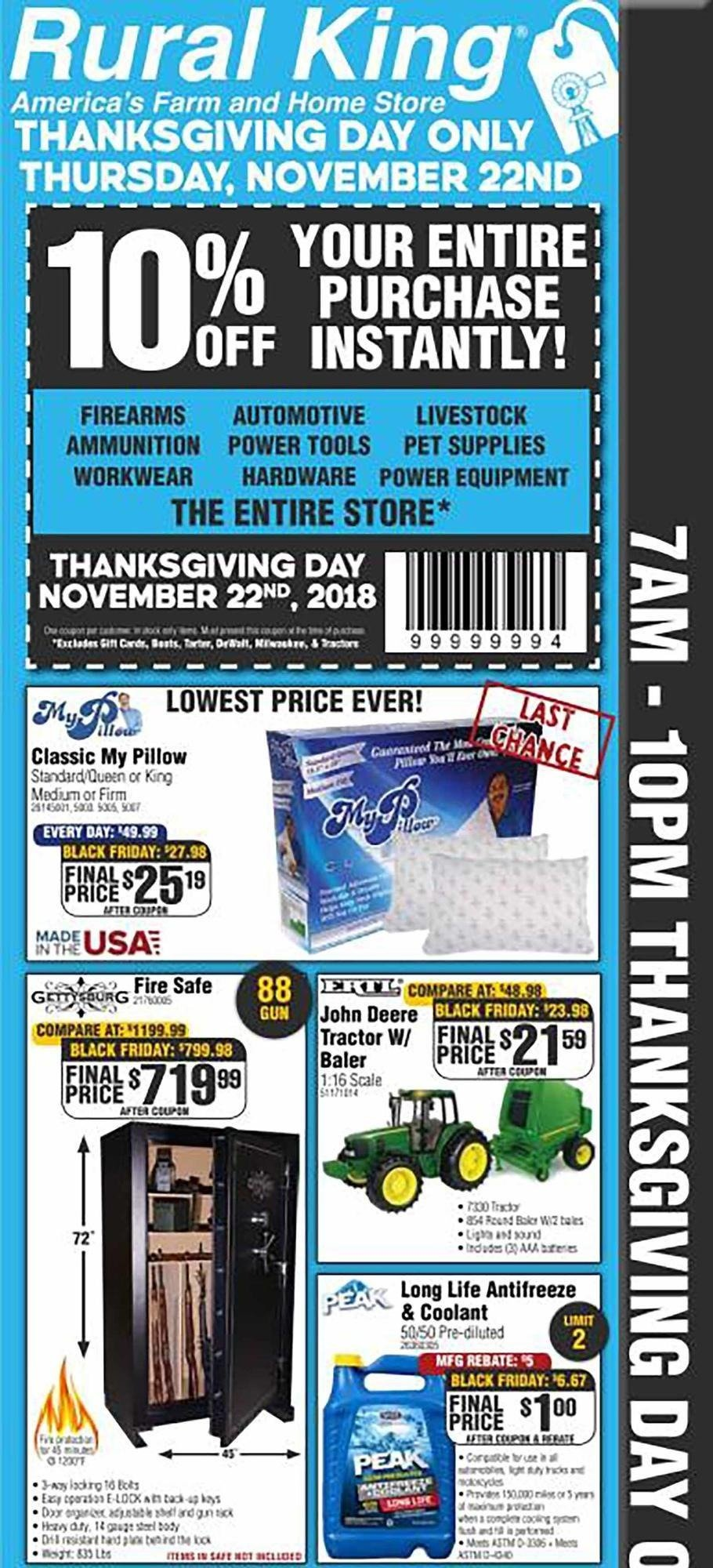 Rural King 2018 Black Friday Ad Page 1