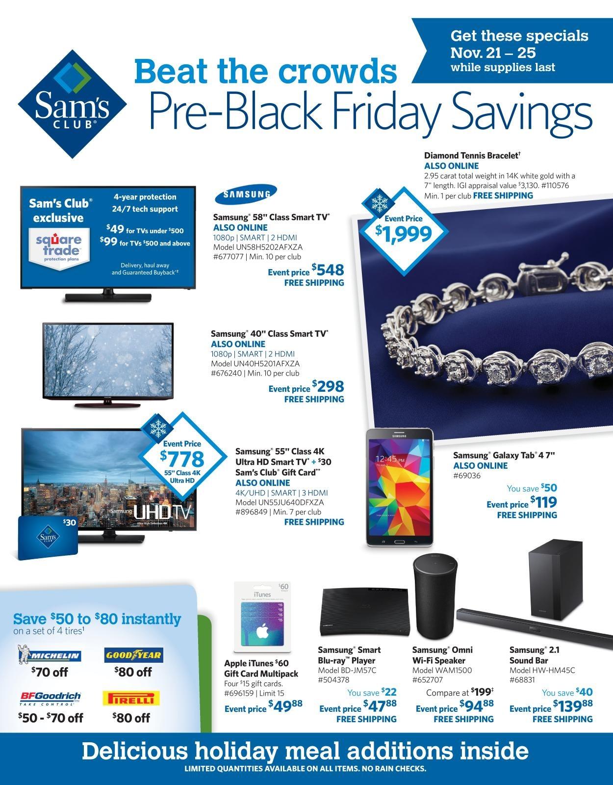 Sam's Club 2015 Black Friday Ad Page 1
