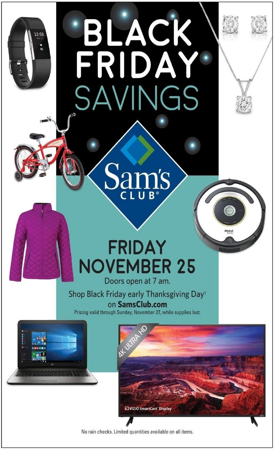 Sam's Club 2016 Black Friday Ad Page 1