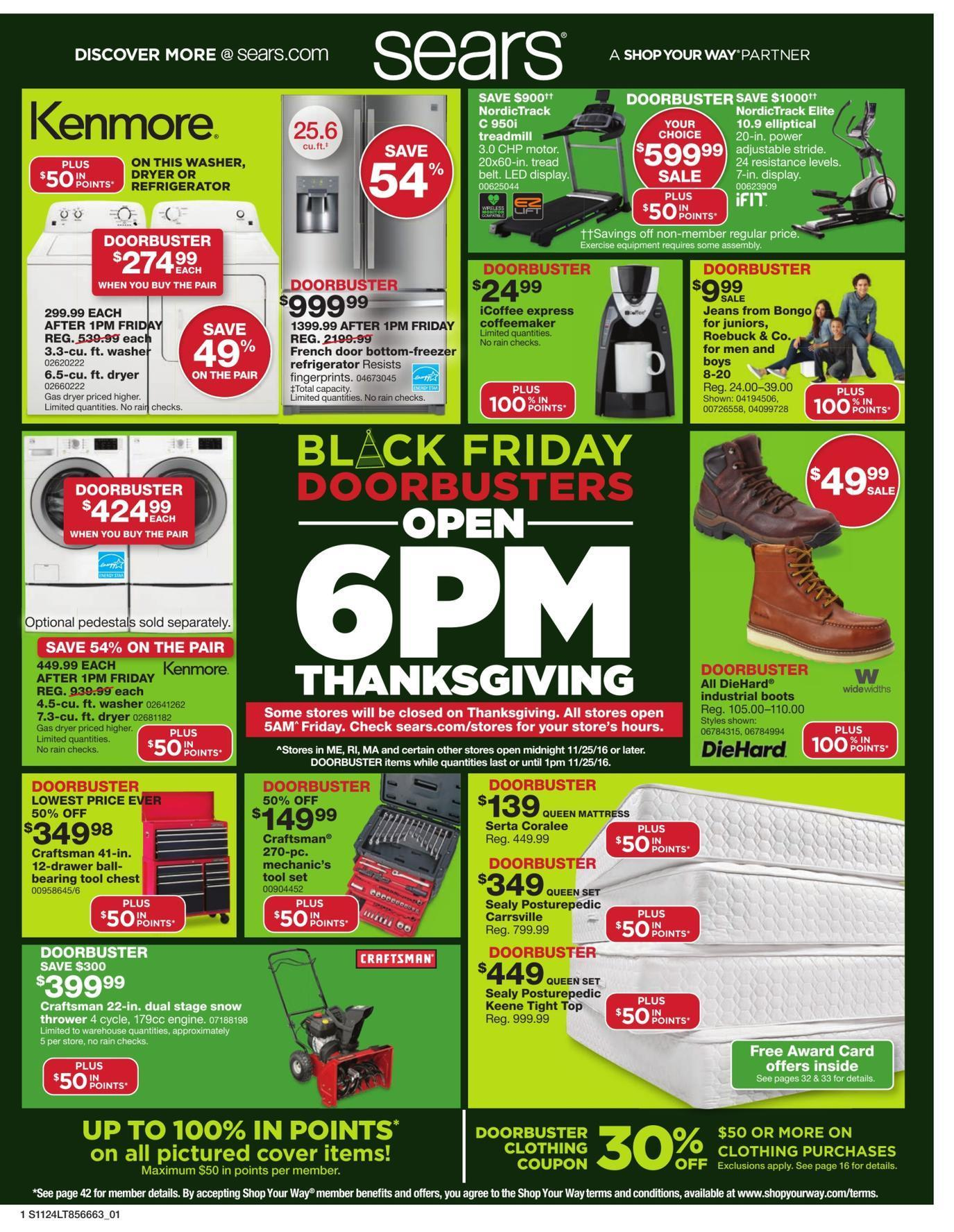 Sears 2016 Black Friday Ad Page 1