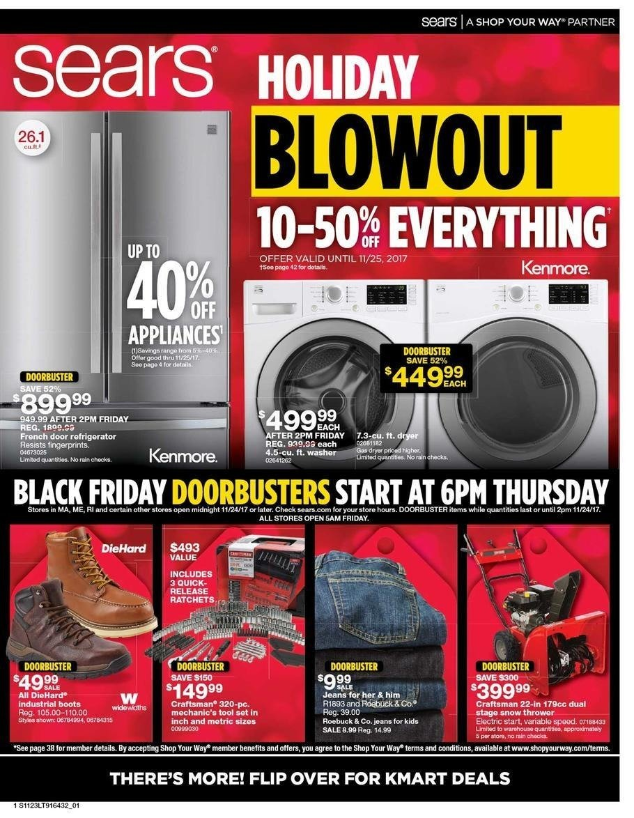 Sears 2017 Black Friday Ad Page 1