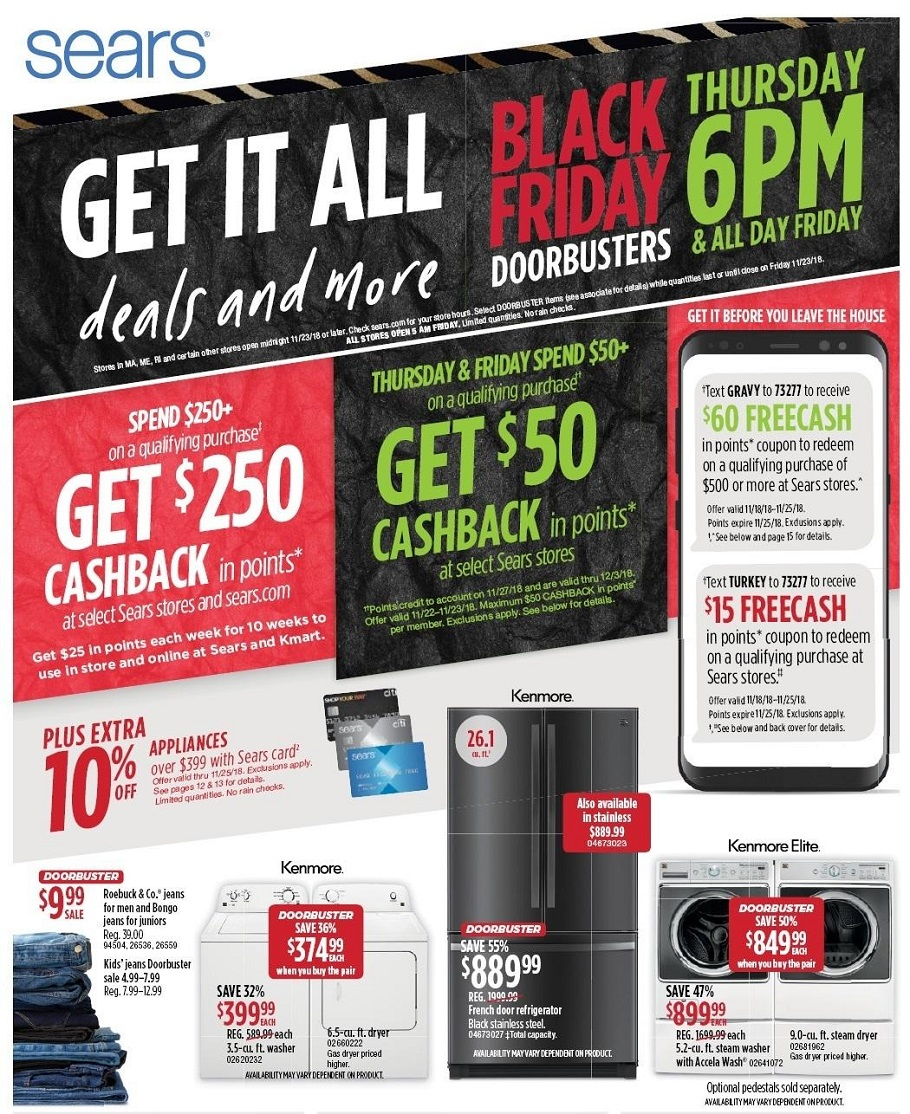 Sears 2018 Black Friday Ad Page 1