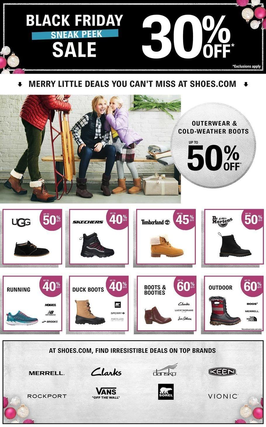 Shoes.com 2018 Black Friday Ad Page 1